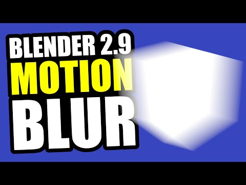 Motion Blur in Blender 2.9 Eevee - Tutorial