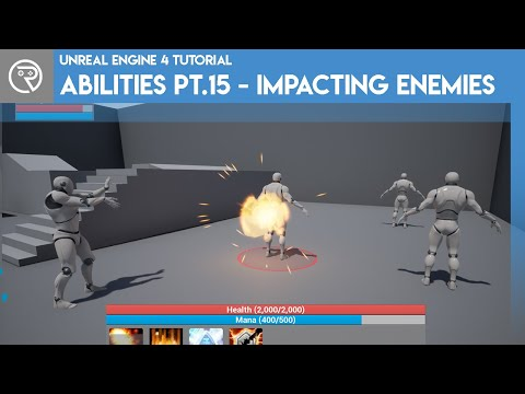 Unreal Engine 4 Tutorial - Ability System Pt.15 - Impacting Enemies