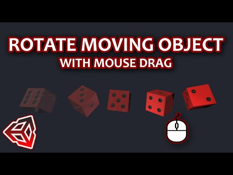 How To Rotate Object With Mouse Drag While Moving It In Unity | Unity 3D tutorial